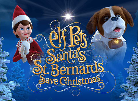Elf Pets St. Bernards Save Christmas