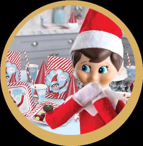 Scout Elf enjoying a north pole breakfast