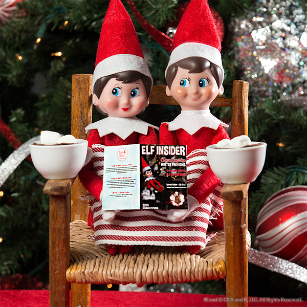 elves in a chair with magazine