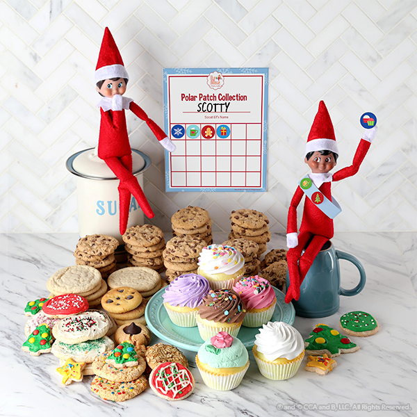 Elves with badge printable and cookies