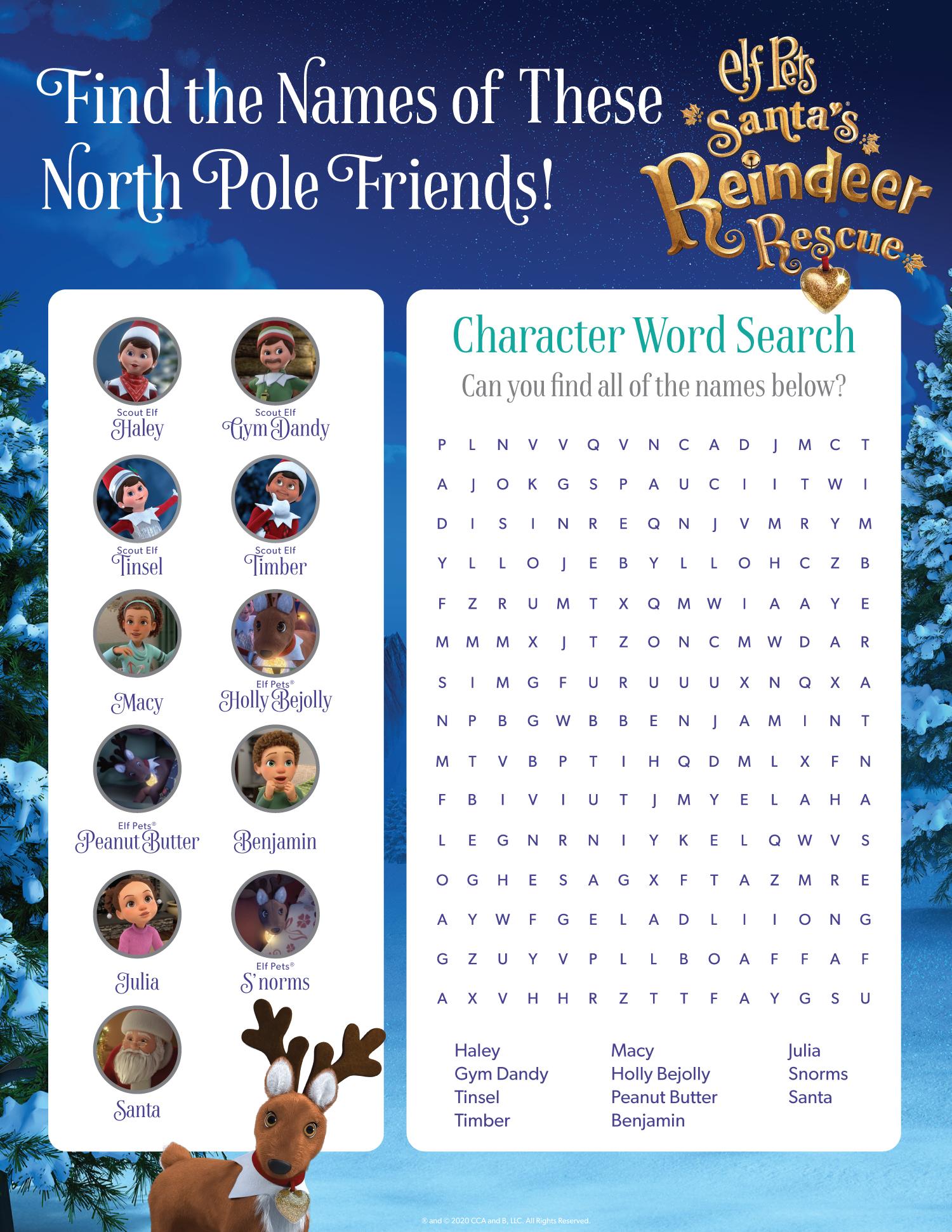 Reindeer Special Activity Sheet