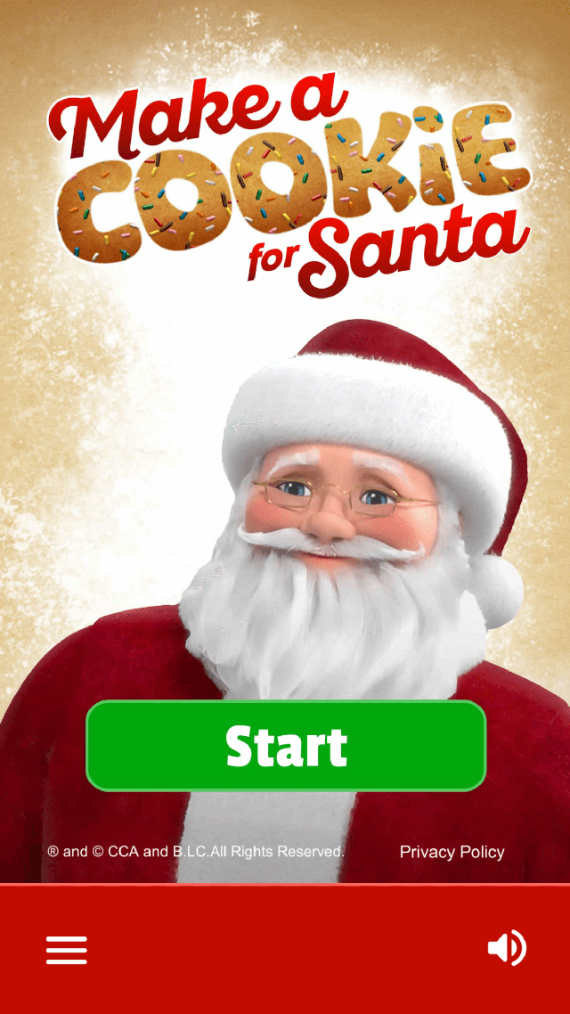 Make a Cookie Start Screen