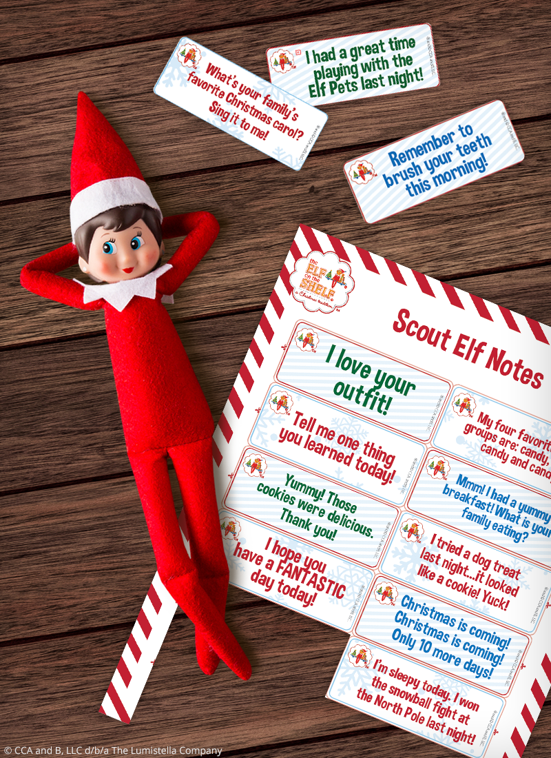 Elf with printable notes