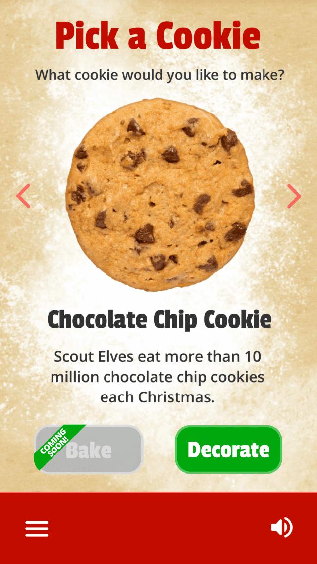 Pick a Cookie Screen
