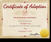 Scout Elf Adoption Certificate