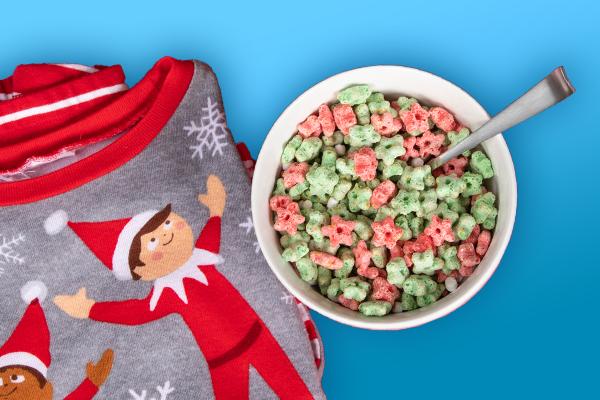 Cereal and Pajamas Menu