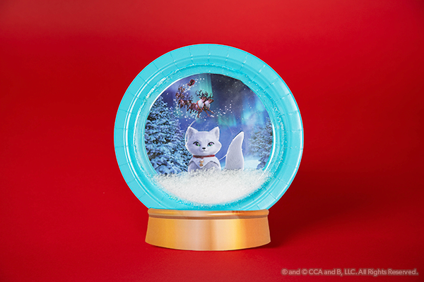 Fox snow globe