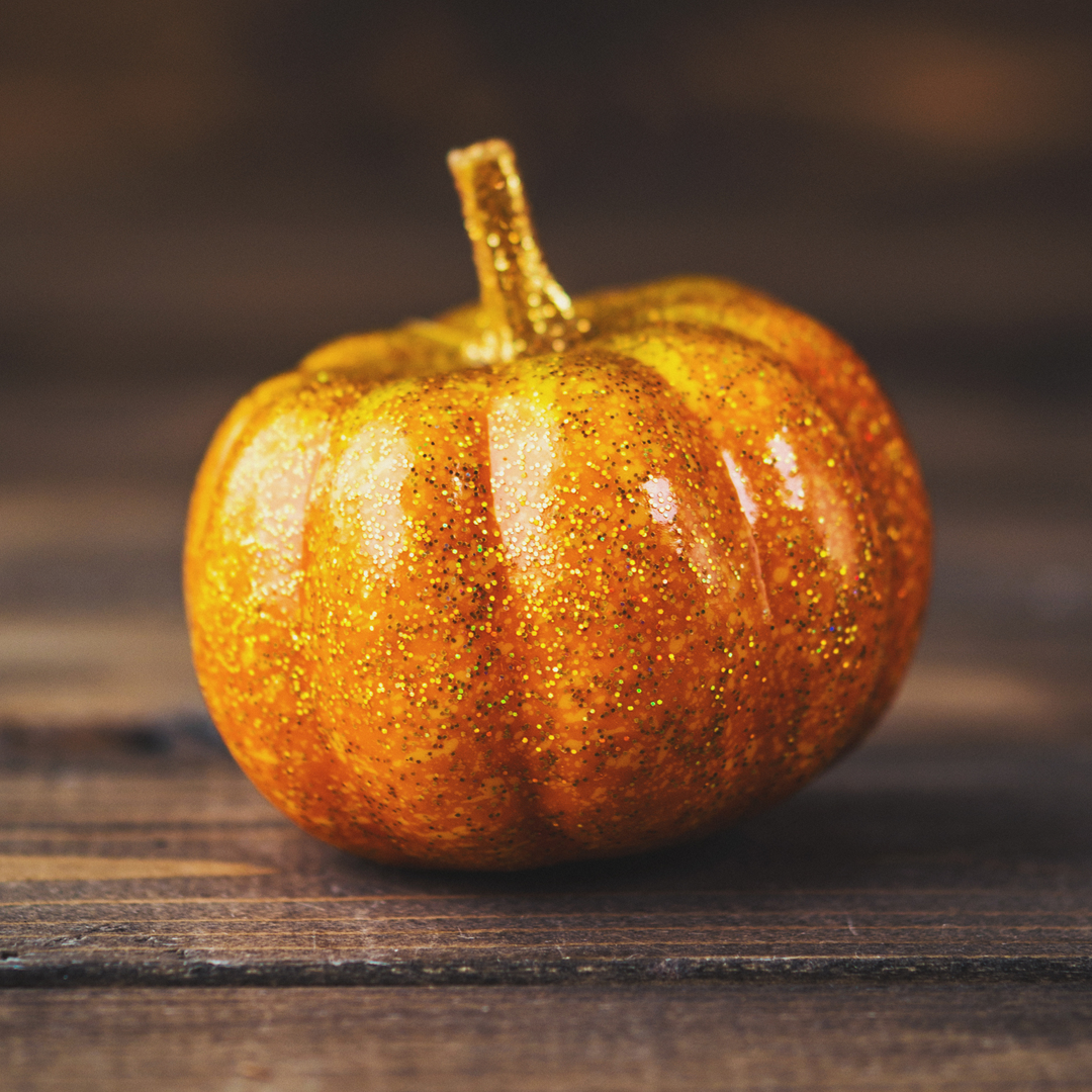 No-Carve Glitter Pumpkin