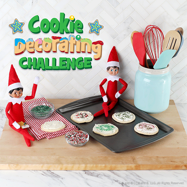 Elves decorating cookies