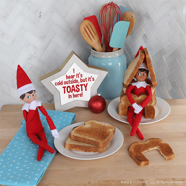 Elves with a toast house