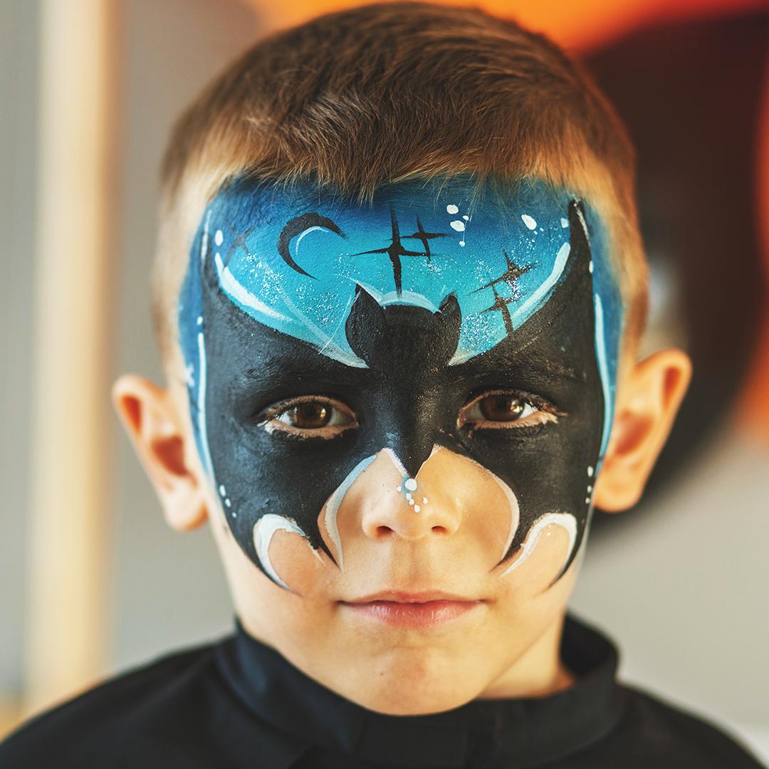 Spooky Bat Face Paint