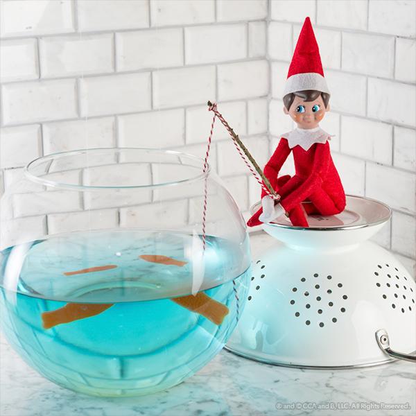 Elf with fishing pole