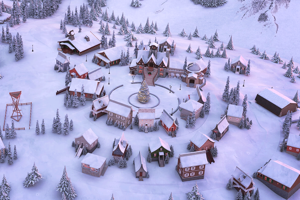 Arial view of the North Pole