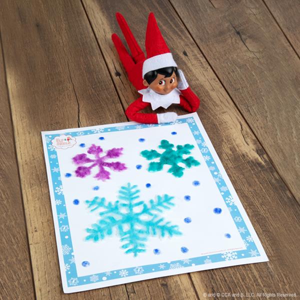 Elf with salt snowflake craft