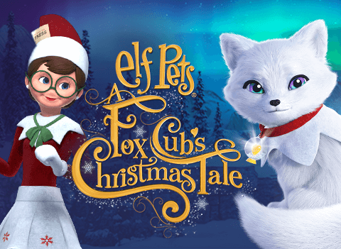 Elf Pets a Fox Cub's Christmas Tale