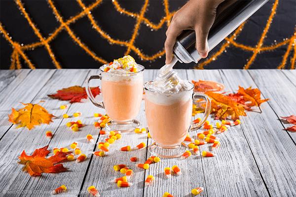 Candy Corn Hot Cocoa Halloween Recipe