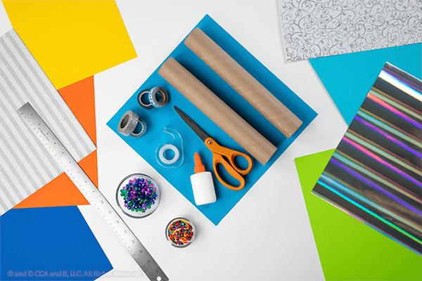 Craft supplies for kaleidoscope