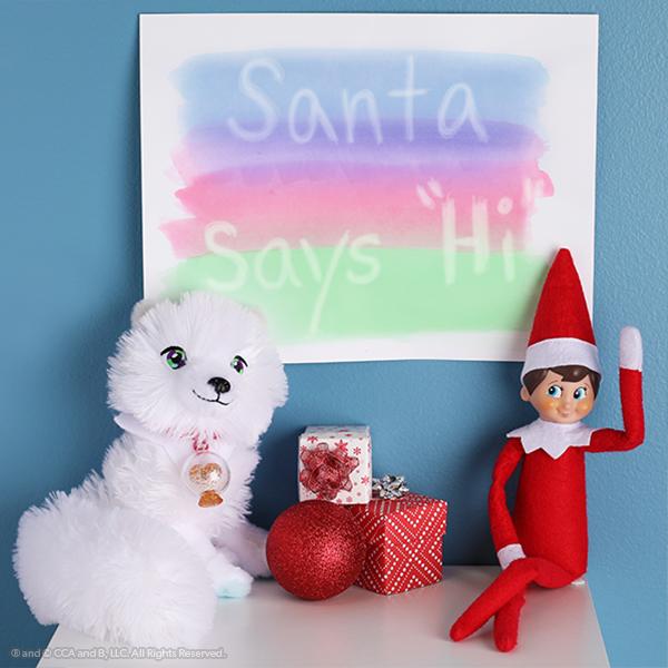 Elf, fox and hidden message on paper