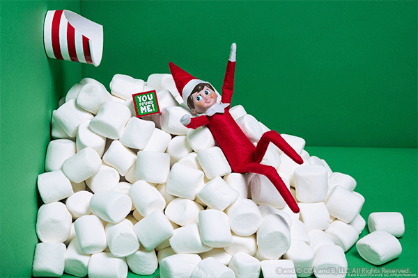 Elf in marshmallow avalanche