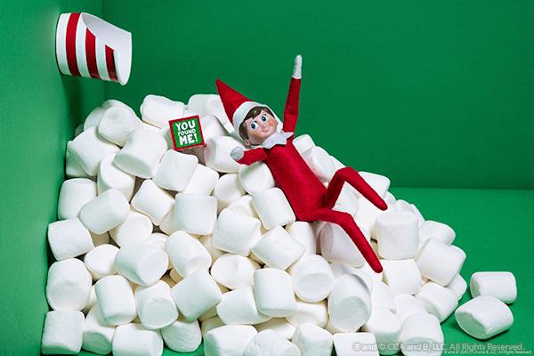 Elf in marshmallow avalanche