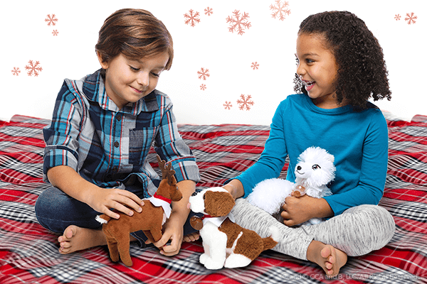 Children playing with elf pets