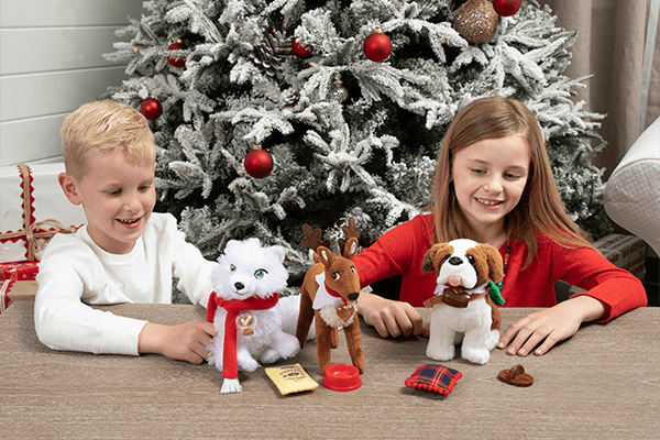 Kids with their Elf Pets