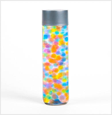 Rainbow bubble sensory bottle