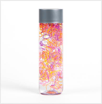 Rubber band sensory bottle