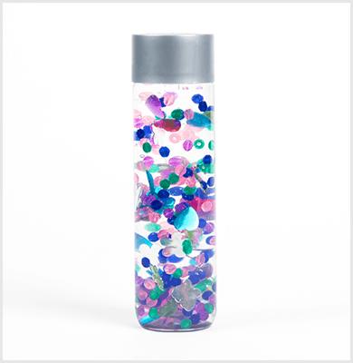 Kaleidoscope colorful sensory bottle