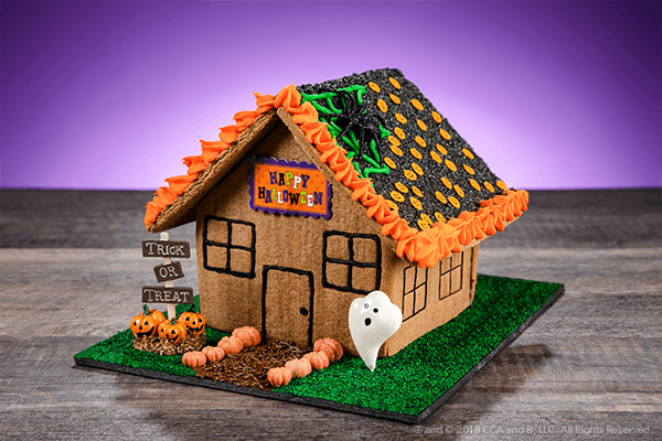 Spooky Halloween Gingerbread House