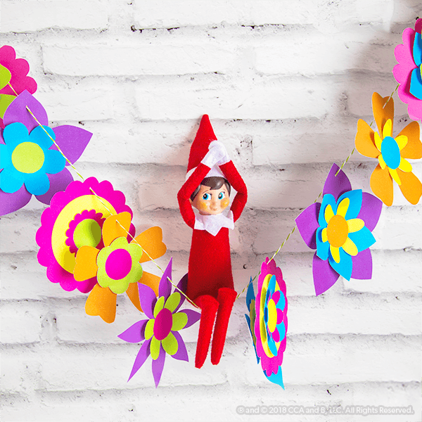 Colorful Spring Garland Craft – The Elf on the Shelf