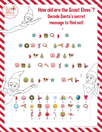 How old are elves printable worksheet