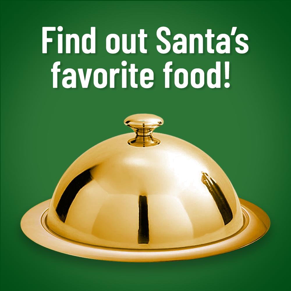 Platter hiding Santa's favorite food