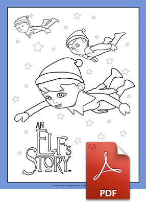 Scout Elves Flying Coloring Page