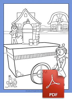 Hot Cocoa Stand Coloring Page