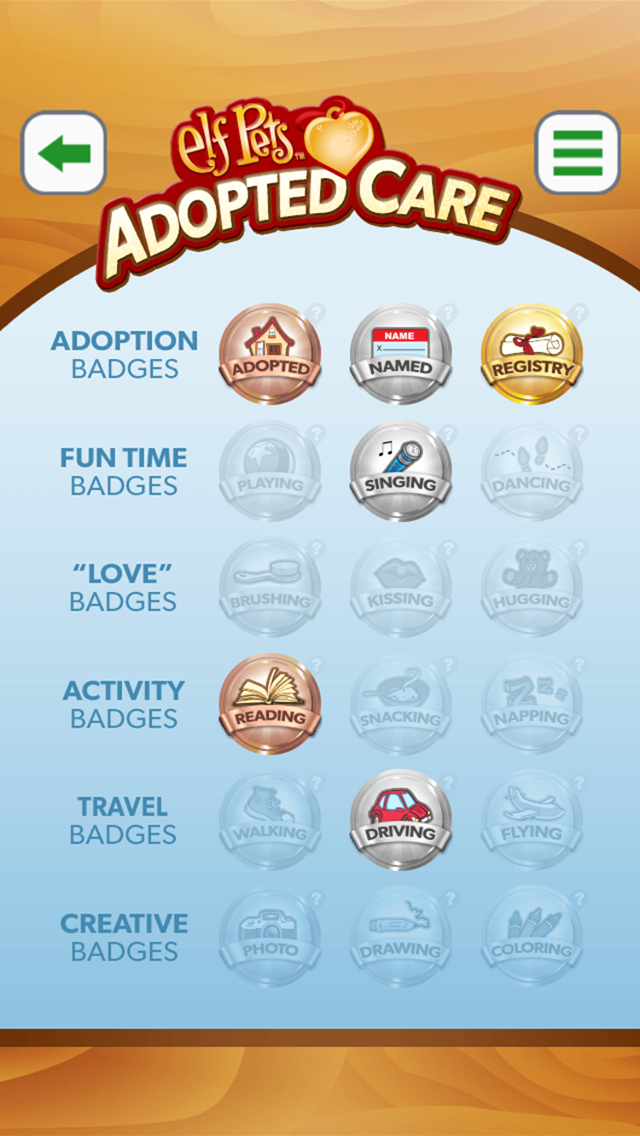 Adopted Care Badges