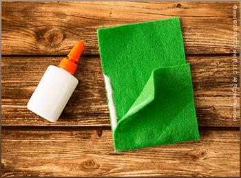 Scout Elf Craft Corner: DIY Tooth Fairy Tote Glue Flap Step
