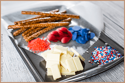 Fourth of July Pretzel Recipe from The Elf on the Shelf