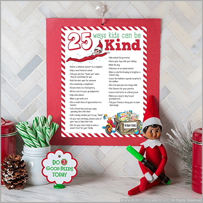 25 Acts of Kindness for Kids - The Elf on the Shelf