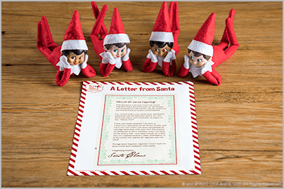 Free Printable Letter from Santa – The Elf on the Shelf