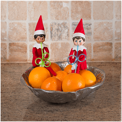 Freshest OJ Around - Funny Elf on the Shelf Ideas