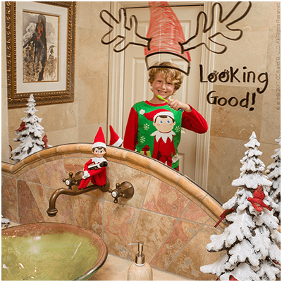 Christmas Reflection - Funny Elf on the Shelf Ideas