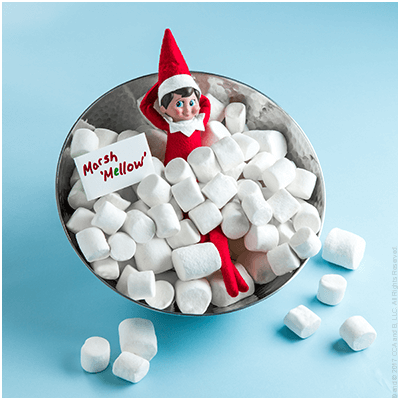 Marshmellow - Funny Elf on the Shelf Ideas