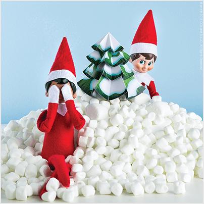 Marshmallow Mountain - Impressive Elf on the Shelf Ideas in No Time - The Elf on the Shelf®