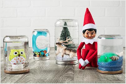 DIY Snow Globes -  The Elf on the Shelf