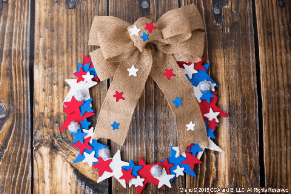 Fourth of July Wreath - The Elf on the Shelf