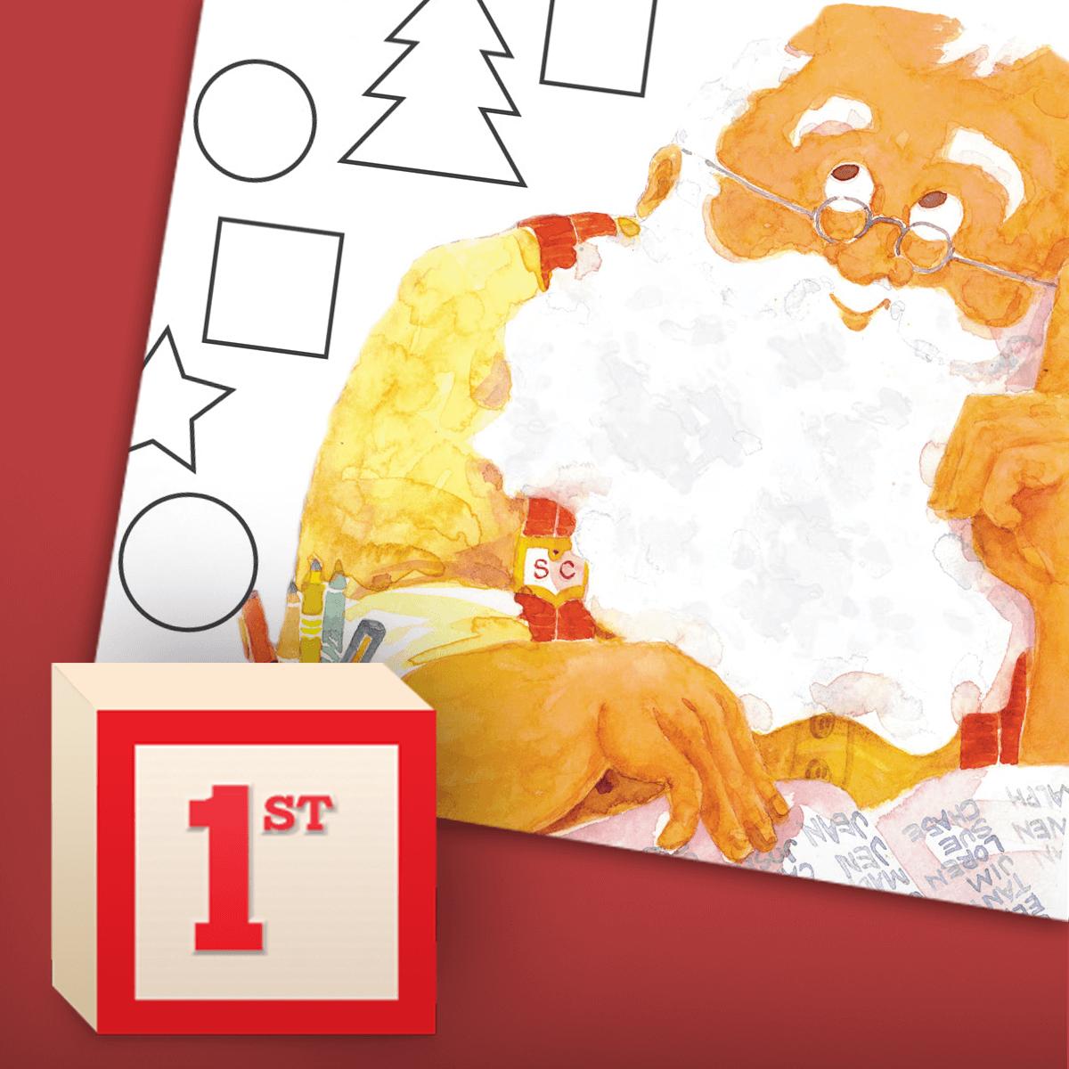 Santa's Shape Sort