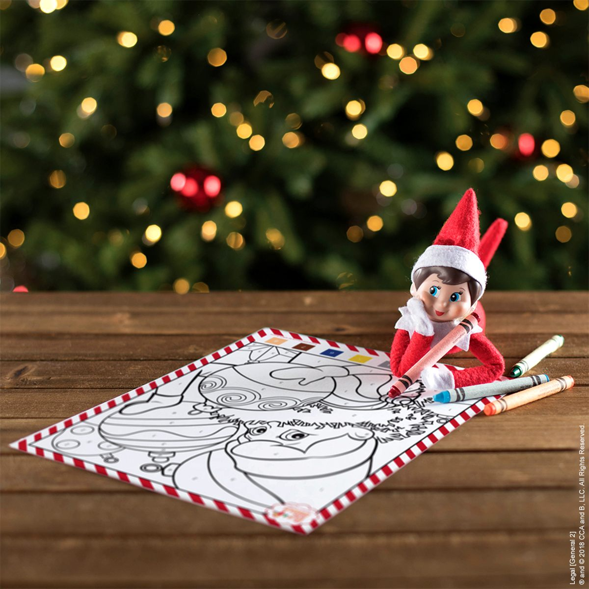 By The Numbers Coloring Fun The Elf On The Shelf