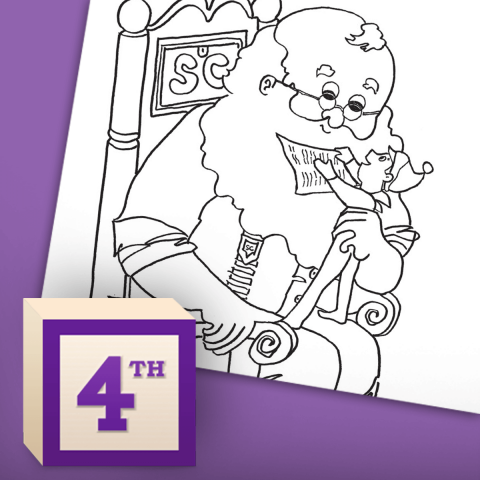 Santa's Coloring Page Nice List