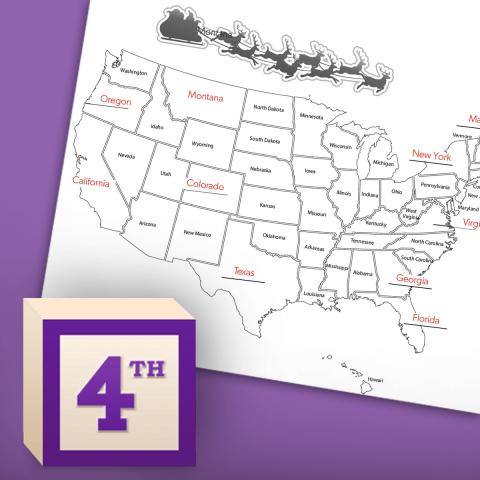 Santa + The 50 States